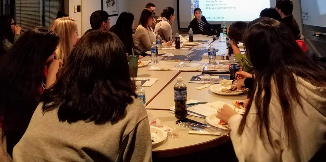 DePaul University College of Law visits UIC.